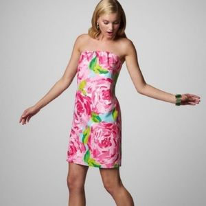 Lilly Pulitzer | 'Keeton' Strapless Dress in Roses